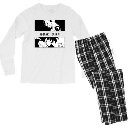 Dragon Ball Goku Vs Frieza Men's Long Sleeve Pajama Set Designed By Paísdelasmáquinas