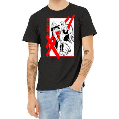 Gohan Vs Cell Heather T-shirt Designed By Paísdelasmáquinas