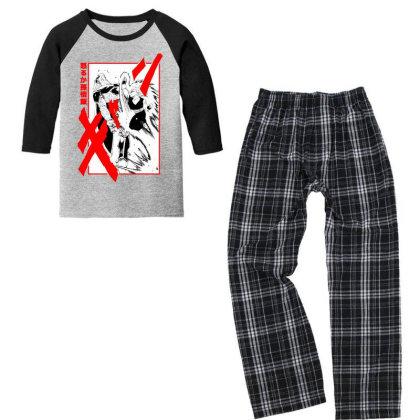 Gohan Vs Cell Youth 3/4 Sleeve Pajama Set Designed By Paísdelasmáquinas