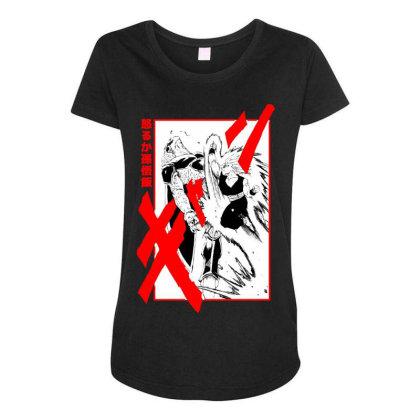 Gohan Vs Cell Maternity Scoop Neck T-shirt Designed By Paísdelasmáquinas