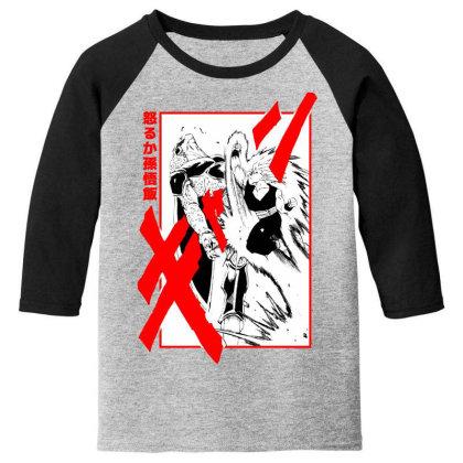 Gohan Vs Cell Youth 3/4 Sleeve Designed By Paísdelasmáquinas
