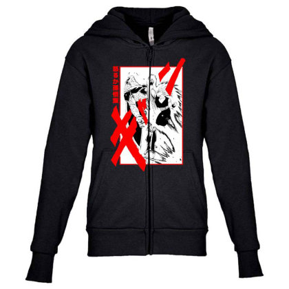 Gohan Vs Cell Youth Zipper Hoodie Designed By Paísdelasmáquinas