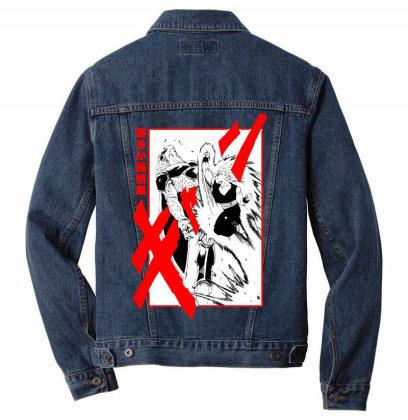Gohan Vs Cell Men Denim Jacket Designed By Paísdelasmáquinas