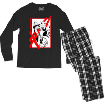Gohan Vs Cell Men's Long Sleeve Pajama Set Designed By Paísdelasmáquinas