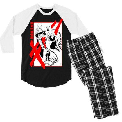 Gohan Vs Cell Men's 3/4 Sleeve Pajama Set Designed By Paísdelasmáquinas