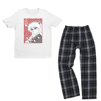 Inuyasha Youth T-shirt Pajama Set Designed By Paísdelasmáquinas