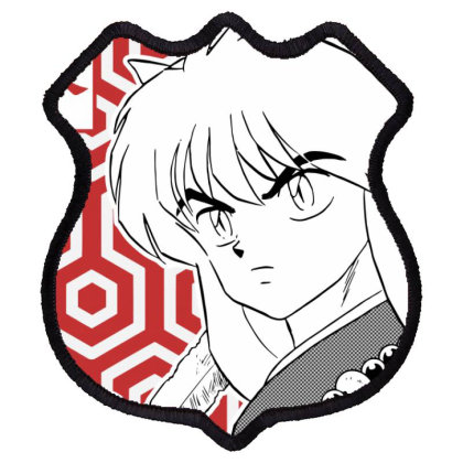 Inuyasha Shield Patch Designed By Paísdelasmáquinas