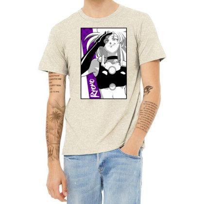 Ryoko Spacepirate Heather T-shirt Designed By Paísdelasmáquinas
