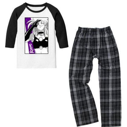 Ryoko Spacepirate Youth 3/4 Sleeve Pajama Set Designed By Paísdelasmáquinas