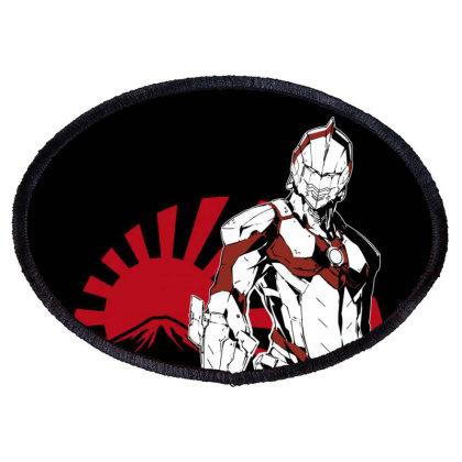 Ultraman Oval Patch Designed By Paísdelasmáquinas