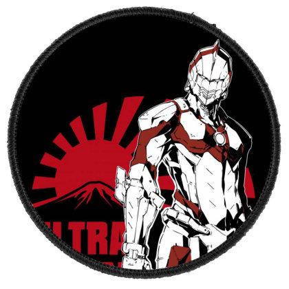 Ultraman Round Patch Designed By Paísdelasmáquinas