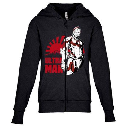 Ultraman Youth Zipper Hoodie Designed By Paísdelasmáquinas