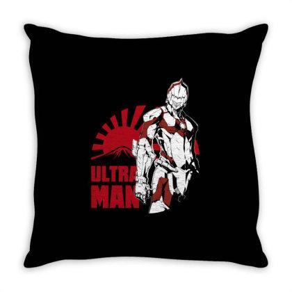 Ultraman Throw Pillow Designed By Paísdelasmáquinas