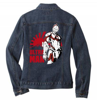 Ultraman Ladies Denim Jacket Designed By Paísdelasmáquinas
