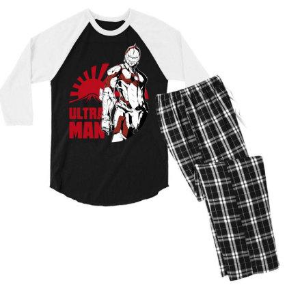 Ultraman Men's 3/4 Sleeve Pajama Set Designed By Paísdelasmáquinas
