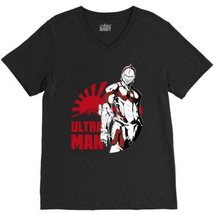 Ultraman V-neck Tee Designed By Paísdelasmáquinas
