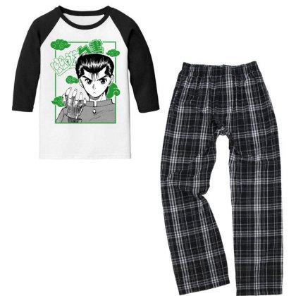 Yu Yu Hakusho Youth 3/4 Sleeve Pajama Set Designed By Paísdelasmáquinas