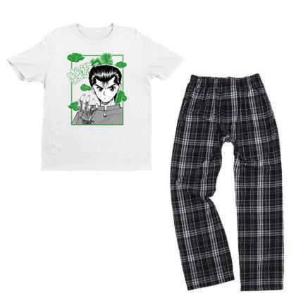 Yu Yu Hakusho Youth T-shirt Pajama Set Designed By Paísdelasmáquinas