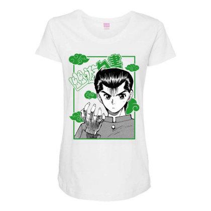 Yu Yu Hakusho Maternity Scoop Neck T-shirt Designed By Paísdelasmáquinas