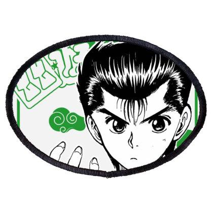 Yu Yu Hakusho Oval Patch Designed By Paísdelasmáquinas