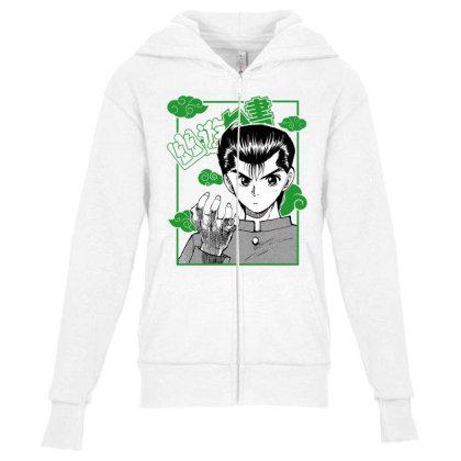 Yu Yu Hakusho Youth Zipper Hoodie Designed By Paísdelasmáquinas