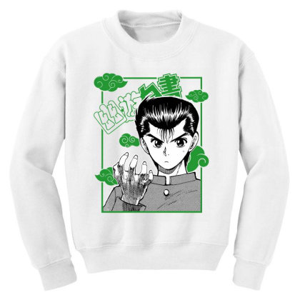 Yu Yu Hakusho Youth Sweatshirt Designed By Paísdelasmáquinas