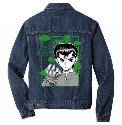 Yu Yu Hakusho Men Denim Jacket Designed By Paísdelasmáquinas