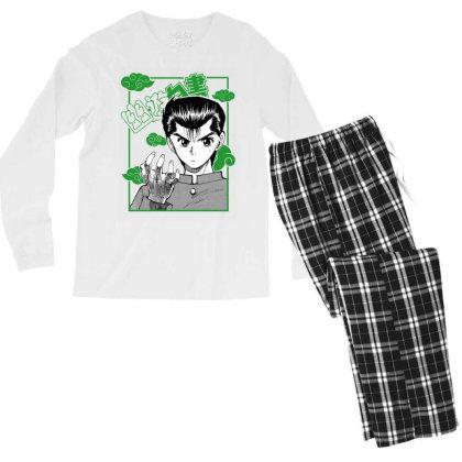 Yu Yu Hakusho Men's Long Sleeve Pajama Set Designed By Paísdelasmáquinas