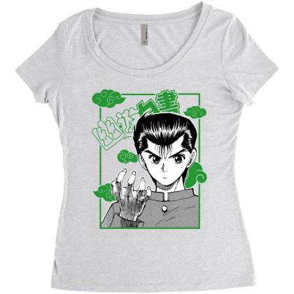 Yu Yu Hakusho Women's Triblend Scoop T-shirt Designed By Paísdelasmáquinas