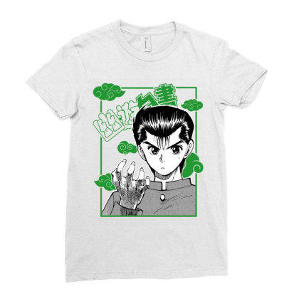 Yu Yu Hakusho Ladies Fitted T-shirt Designed By Paísdelasmáquinas