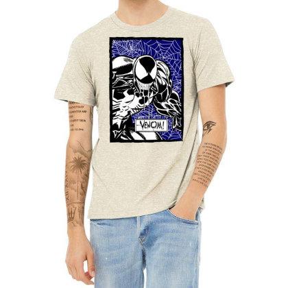 Venom Heather T-shirt Designed By Paísdelasmáquinas