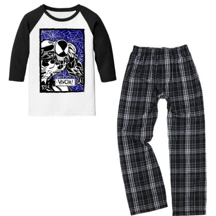 Venom Youth 3/4 Sleeve Pajama Set Designed By Paísdelasmáquinas