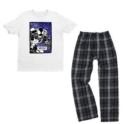 Venom Youth T-shirt Pajama Set Designed By Paísdelasmáquinas