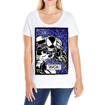 Venom Ladies Curvy T-shirt Designed By Paísdelasmáquinas
