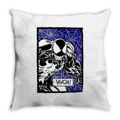 Venom Throw Pillow Designed By Paísdelasmáquinas
