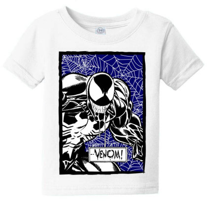 Venom Baby Tee Designed By Paísdelasmáquinas