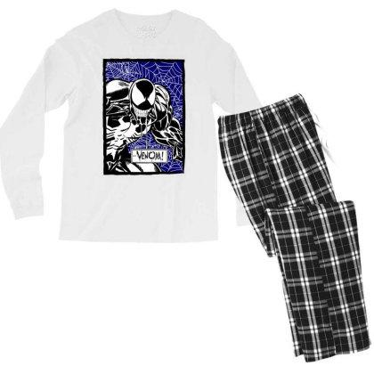 Venom Men's Long Sleeve Pajama Set Designed By Paísdelasmáquinas
