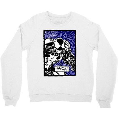 Venom Crewneck Sweatshirt Designed By Paísdelasmáquinas