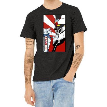 Mazinger Z Heather T-shirt Designed By Paísdelasmáquinas