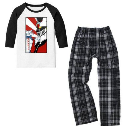 Mazinger Z Youth 3/4 Sleeve Pajama Set Designed By Paísdelasmáquinas