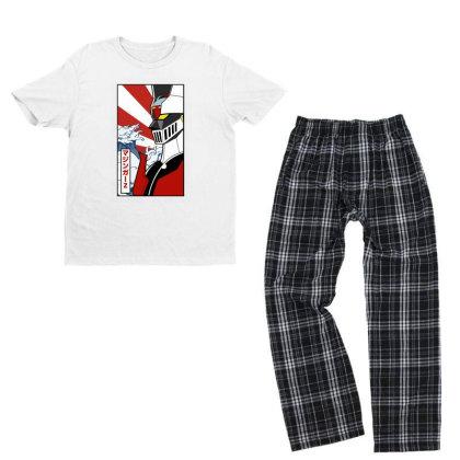 Mazinger Z Youth T-shirt Pajama Set Designed By Paísdelasmáquinas