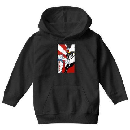 Mazinger Z Youth Hoodie Designed By Paísdelasmáquinas