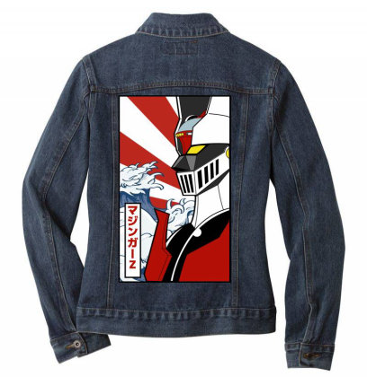 Mazinger Z Ladies Denim Jacket Designed By Paísdelasmáquinas