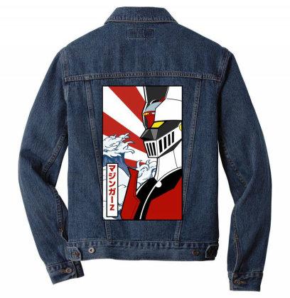 Mazinger Z Men Denim Jacket Designed By Paísdelasmáquinas