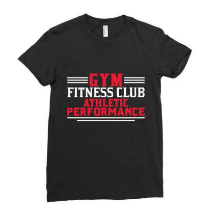 Gym Club Ladies Fitted T-shirt Designed By Qudkin