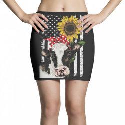 cow and sunflower american flag Mini Skirts | Artistshot
