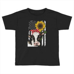 cow and sunflower american flag Toddler T-shirt | Artistshot