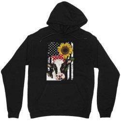 cow and sunflower american flag Unisex Hoodie | Artistshot