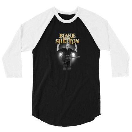 Blake Shelton Gold Blake T Shirt 3/4 Sleeve Shirt Designed By Blackstone