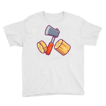 Axe And Woods Youth Tee Designed By Lenart